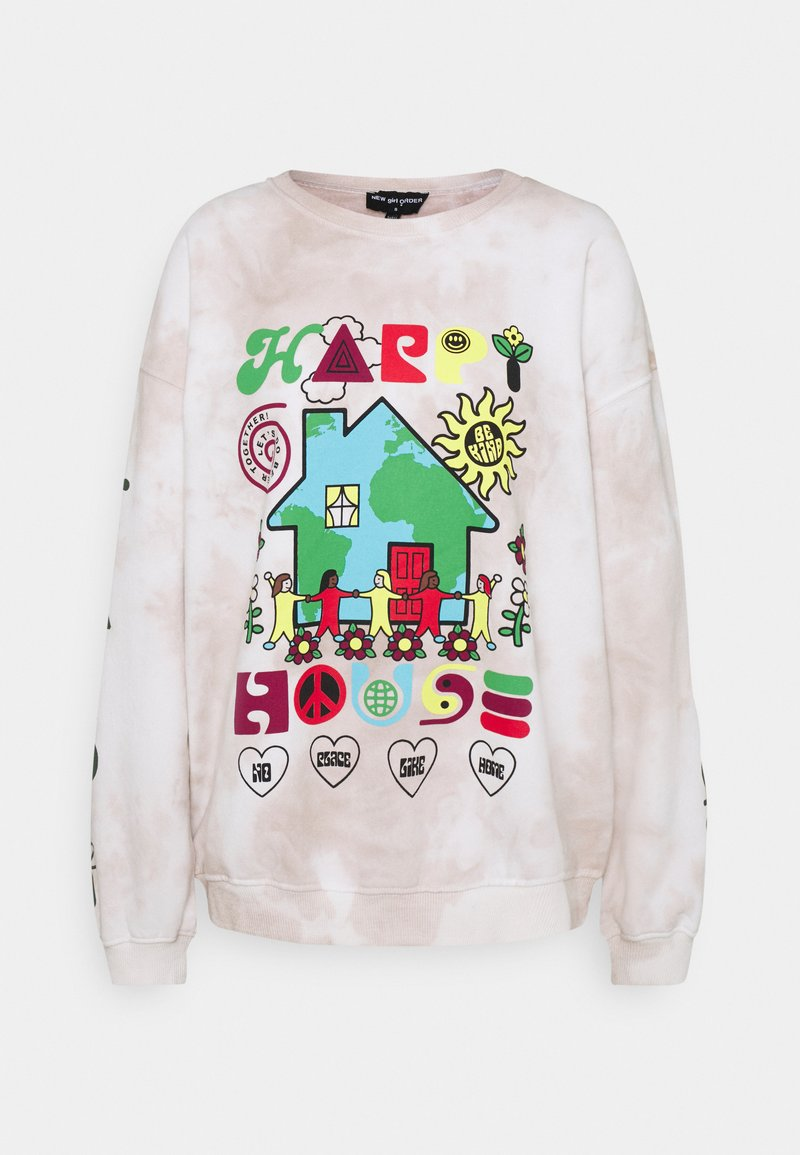 NEW girl ORDER - HAPPY HOUSE - Mikina - grey tie dye