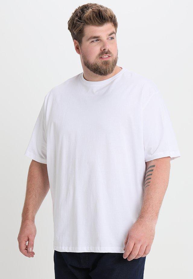 CAPSULE CREW NECK - Basic T-shirt - white
