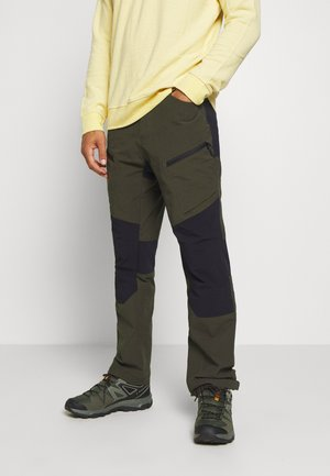 BREWER - Pantalons outdoor - dark green