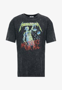 Revival Tee - METALLICA COLOR - Print T-shirt - anthracite - 3