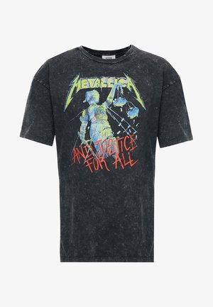 METALLICA COLOR - Printtipaita - anthracite