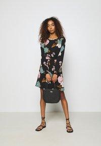 ONLY - ONLNOVA LUX SMOCK SHORT DRESS - Day dress - black - 1