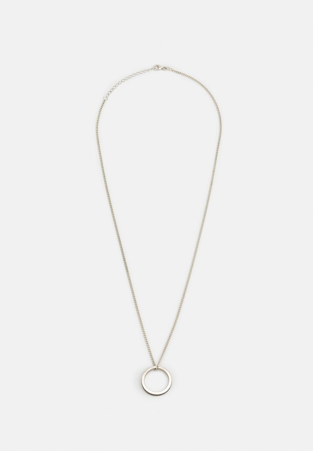RING NECKLACE UNISEX - Ketting - silver-coloured