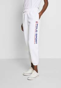 Polo Ralph Lauren - ANKLE PANT - Spodnie treningowe - white - 0