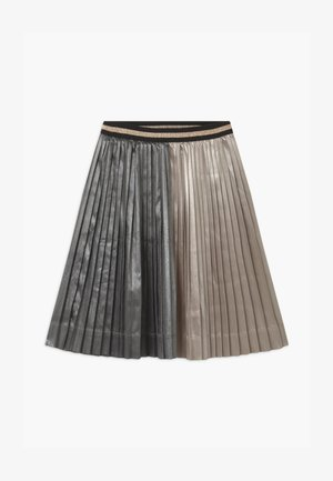 PLEATED MIDI - A-line skirt - champagne