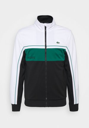 TENNIS JACKET - Veste de survêtement - white/black/bottle green/black