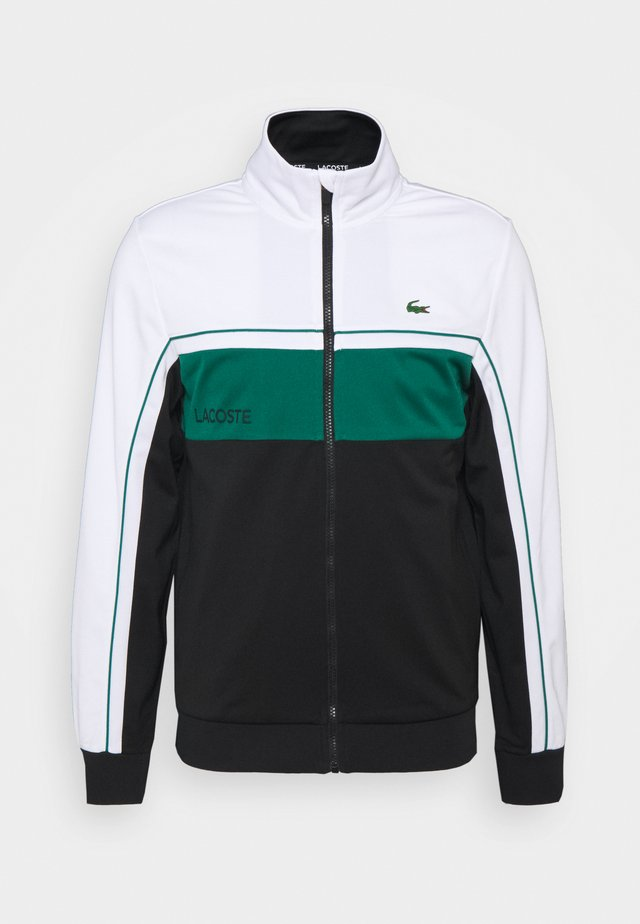 TENNIS JACKET - Giacca sportiva - white/black/bottle green/black