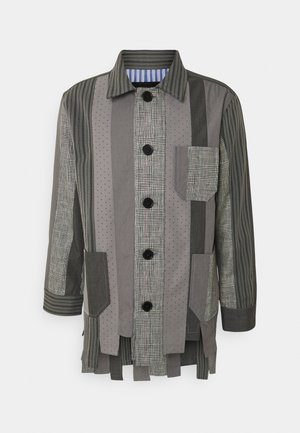NUMBER PATCHWORK - Summer jacket - charcoal