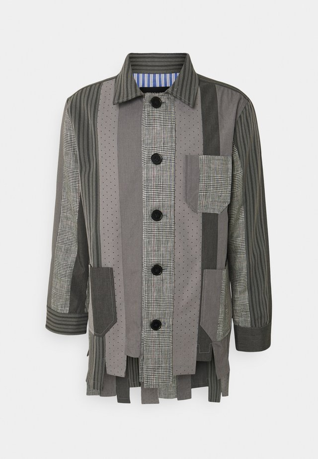 NUMBER PATCHWORK - Korte jassen - charcoal