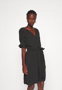Gap Tall - TIE WAIST - Sukienka letnia - black - 0