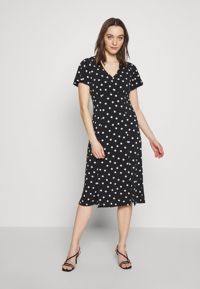 SPOT SPLIT FRONT DRESS - Jerseykjoler - mono