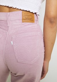 Levi's® - RIBCAGE STRAIGHT ANKLE - Trousers - pebble keepsake lilac - 3