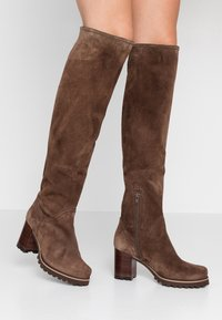 Weekend by Pedro Miralles - Over-the-knee boots - tortora - 0