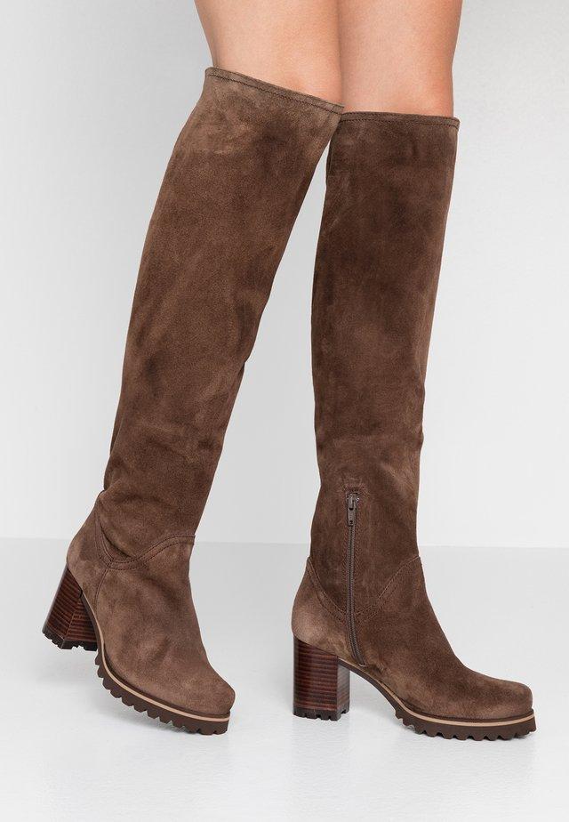 Over-the-knee boots - tortora