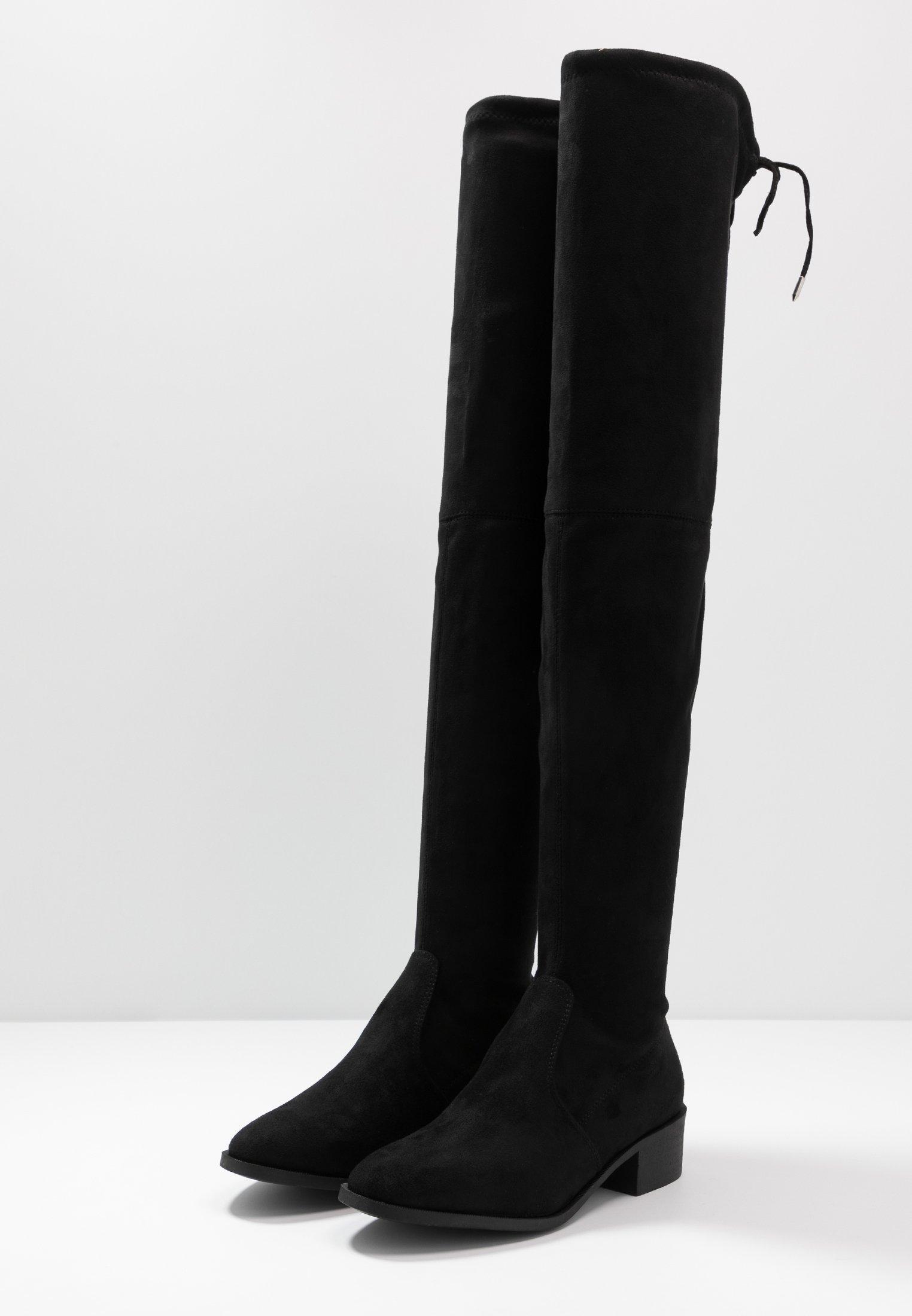 TRALLALA TIE BACK LONG STRETCH BOOT Overknee laarzen black