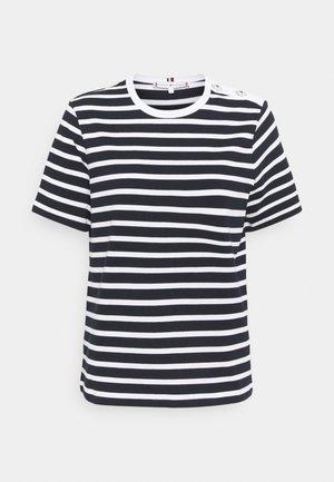 REGULAR BUTTON - Print T-shirt - blue, white