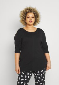 CAPSULE by Simply Be - COLD SHOULDER TUNIC - Print T-shirt - black - 0