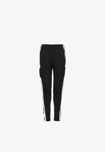 SQUADRA - Tracksuit bottoms - black / white