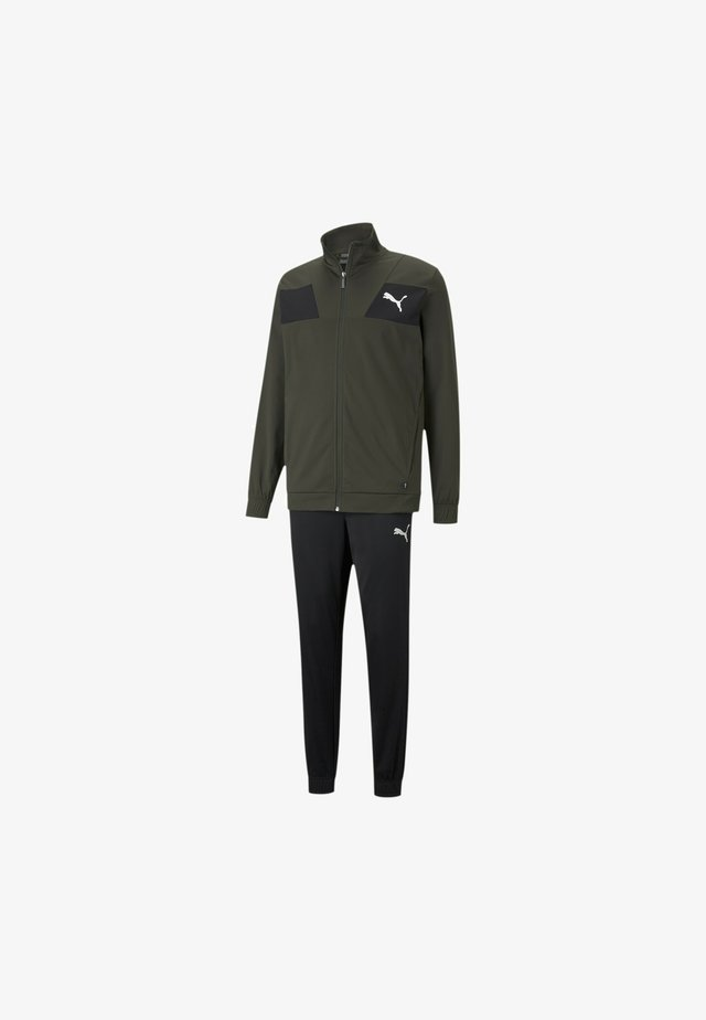 TECHSTRIPE TRICOT  - Tracksuit - forest night