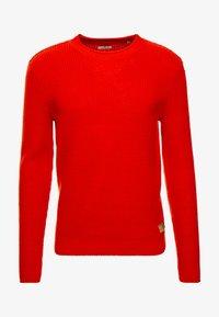 TOM TAILOR - FISHERMAN CREW NECK  - Stickad tröja - orange red - 4