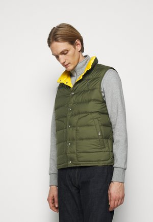 DENVER VEST - Vesta - dark sage/slicker yellow