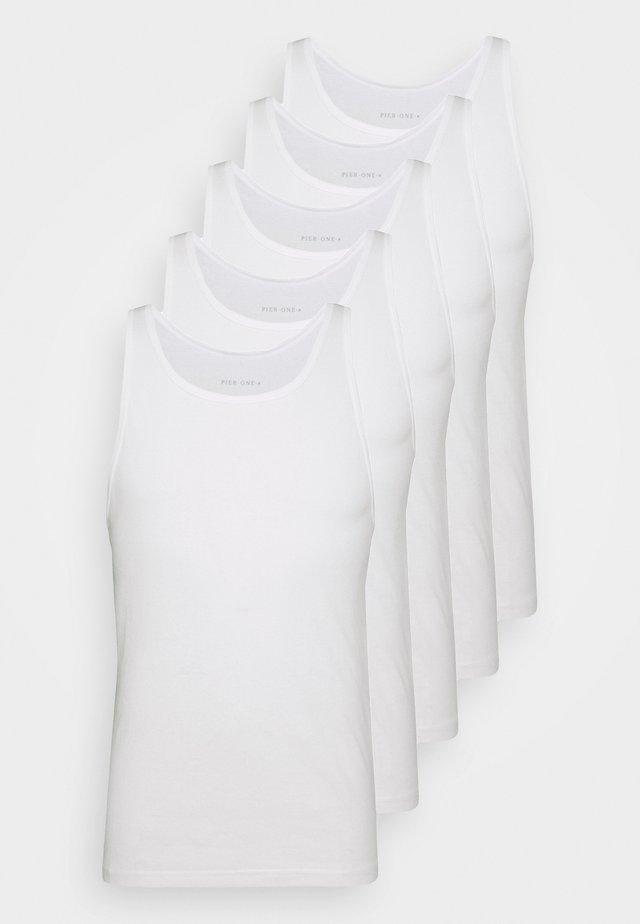 5 PACK - Maglietta intima - white