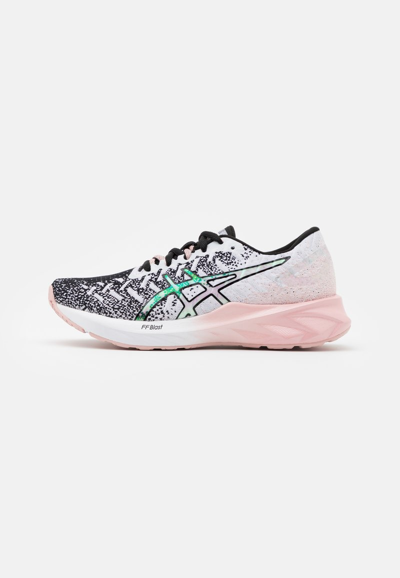 ASICS - DYNABLAST THE NEW STRONG - Neutral running shoes - white/ginger peach