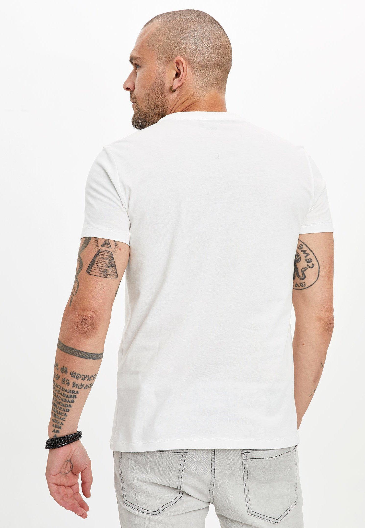 DeFacto Print T-shirt - ecru 2Ryrc