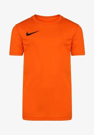 Basic T-shirt - safety orange / black