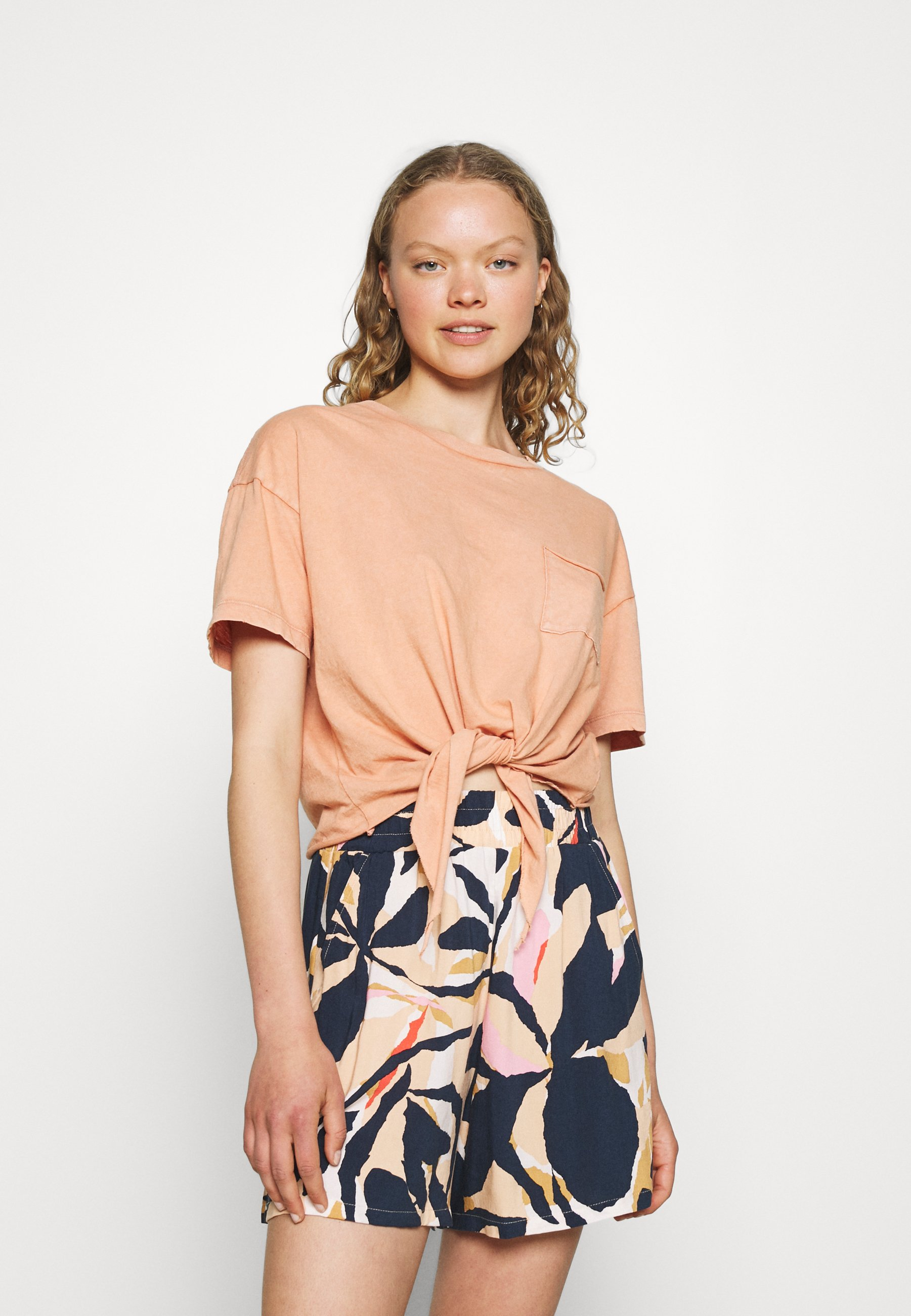 Damen CROP TEE TIE FRONT - T-Shirt basic
