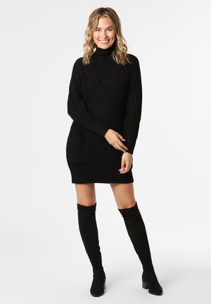 KALAMA - Gebreide jurk - schwarz
