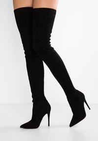 Steve Madden - DOMINIQUE - High heeled boots - black - 0