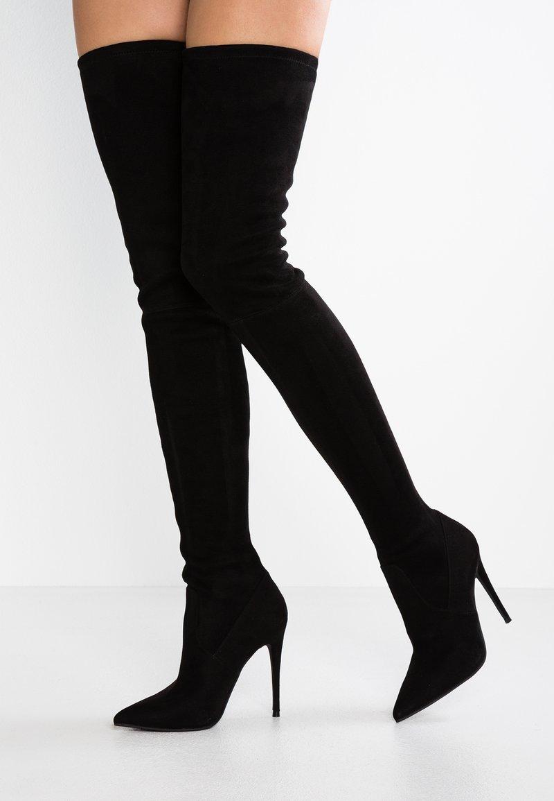 Steve Madden - DOMINIQUE - High heeled boots - black