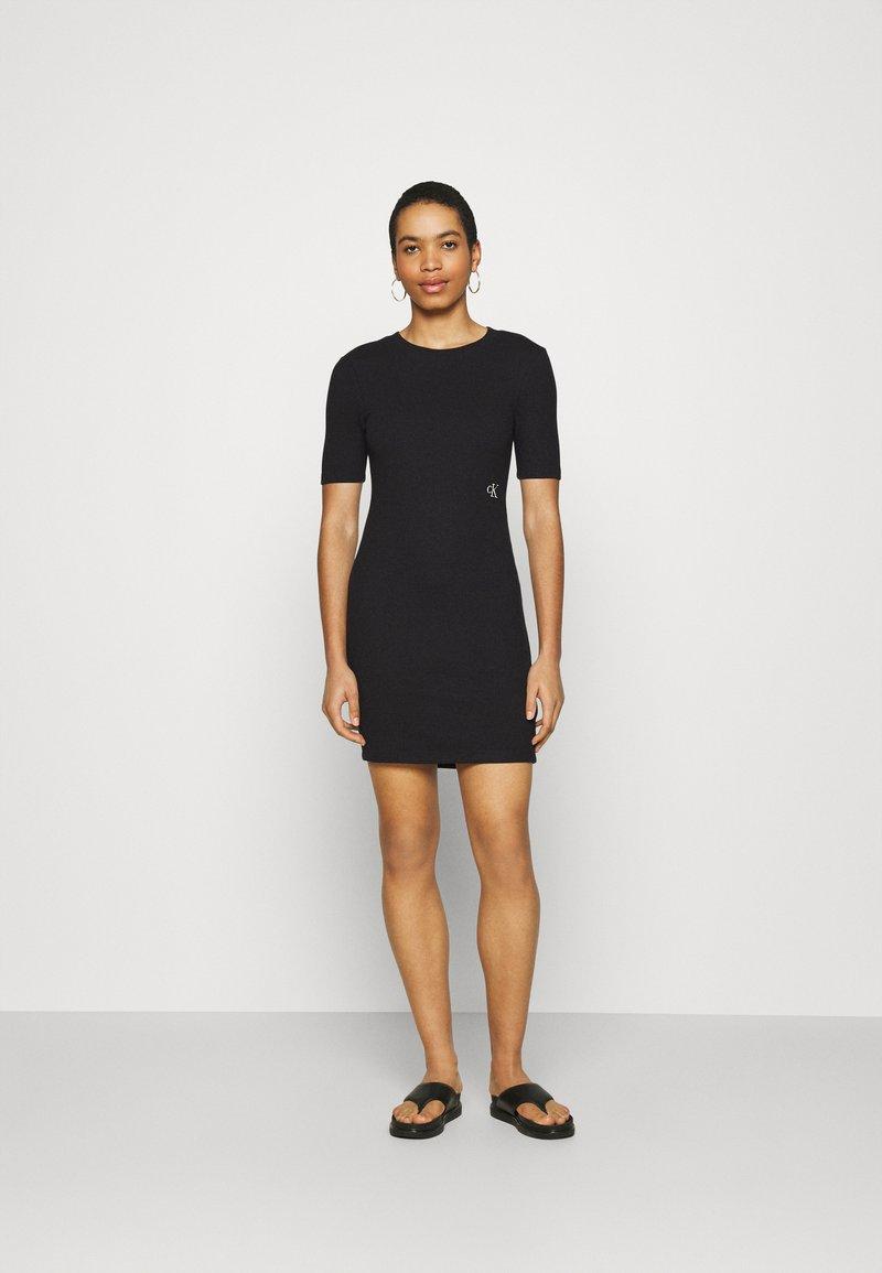 Calvin Klein Jeans - SLUB DRESS - Shift dress - black