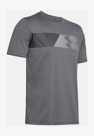 FAST LEFT CHEST - Print T-shirt - pitch gray medium heather