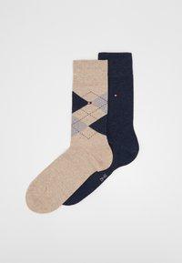 Tommy Hilfiger - MEN SOCK CHECK 2 PACK - Socks - beige melange - 0