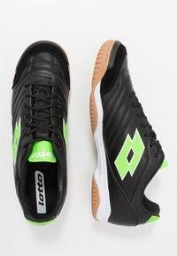 Lotto - STADIO 300 II ID - Botas de fútbol sin tacos - all black/spring green - 1