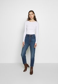 Madewell - PERFECT VINTAGE BUTTON FRONT - Straight leg jeans - barnsdale wash - 1