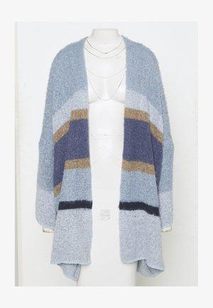 CARDIGAN - Cardigan - blue/beige