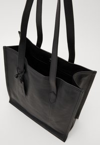 Zign - LEATHER - Torba na zakupy - black - 2