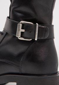 Zign - Cowboy/biker ankle boot - black - 6