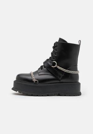 ESTOC - Lace-up ankle boots - black