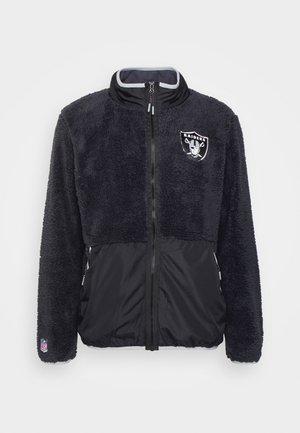 NFL LAS VEGAS RAIDERS SHERPA - Klubové oblečení - charcoal