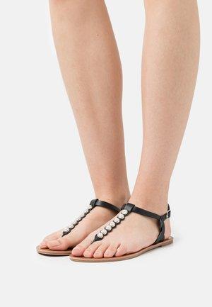 ONLMARGIT TOE SPLIT  - Sandalias de dedo - black