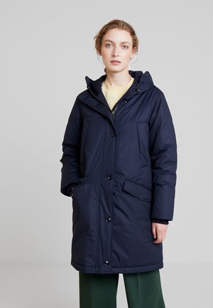 PARKA REAL DOWN THIN PADDING - Dunkåpe / -frakk - midnight blue