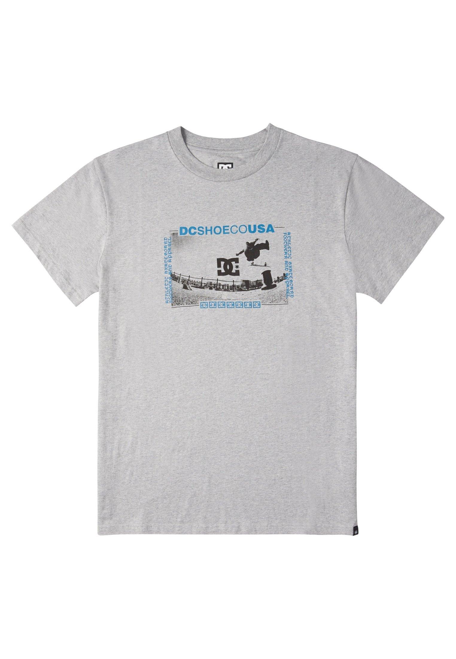 Dc Shoes Olze - T-shirt Print Heather Grey