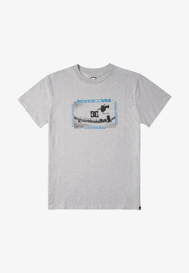 OLZE - Print T-shirt - heather grey