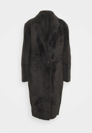 LACON CURLY ANCHOR - Classic coat - black antracite