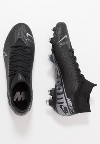 Nike Performance - 7 PRO FG - Moulded stud football boots - black/metallic cool grey/cool grey - 1