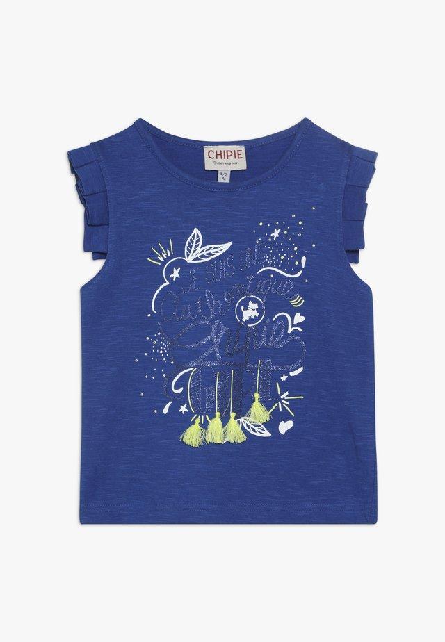 DÉBARDEUR - Camiseta estampada - bleu électrique